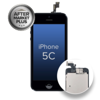 COMPLETE-LCD-ASSEMBLY-FOR-IPHONE-5C-WITH-FRONT-CAMERA-PROX-SENSOR-EAR-SPEAKER-AFTERMARKET-PLUS-QUALITY-TIANMA-BLACK