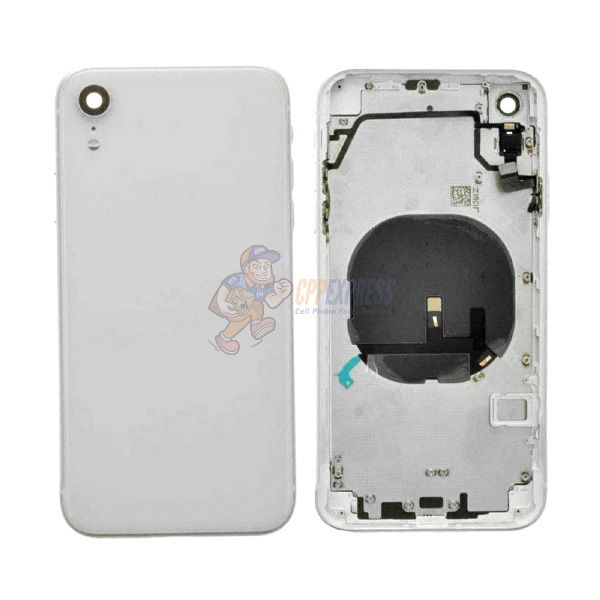 IPhone XR Back Glass Housing Pre-Installed Small Parts