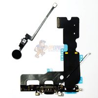 iPhone 7 Plus 5.5 Charging Port Button & Home Return Button Flex Cable Set - Black