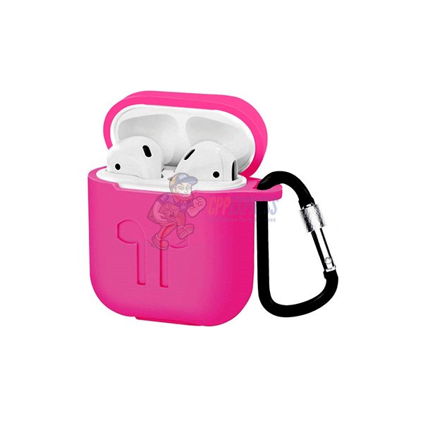 Airpods 2 1 Shockproof Premium Silicone Case Cover Hot Pink